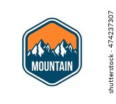 simple modern hipster mountain... | Shutterstock .eps vector #474237307
