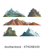 mountain vector illustration.... | Shutterstock .eps vector #474248143