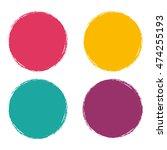 grunge circle abstract logo... | Shutterstock .eps vector #474255193