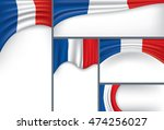 abstract france flag  french... | Shutterstock .eps vector #474256027