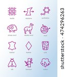 vector line icons of fabric... | Shutterstock .eps vector #474296263