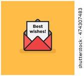'best wishes' written inside an ...   Shutterstock .eps vector #474307483