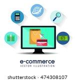 electronic commerce marketing... | Shutterstock .eps vector #474308107