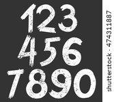 the vector of digital number in ... | Shutterstock .eps vector #474311887