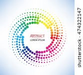 Abstract Doted Curve Shaped An...