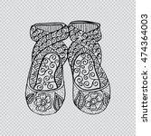 ballet dance shoes. zentangle... | Shutterstock .eps vector #474364003
