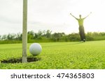 golfer action to win after... | Shutterstock . vector #474365803