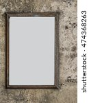 white panel in blank on a stone ... | Shutterstock . vector #474368263