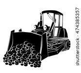 bulldozer | Shutterstock .eps vector #474385357