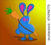 rabbit. a blue rabbit zombie... | Shutterstock .eps vector #474398773