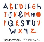 vector hand drawn funky... | Shutterstock .eps vector #474417673