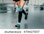 feet girl runners in... | Shutterstock . vector #474427057