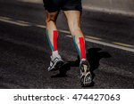 kinesio taping on muscles of... | Shutterstock . vector #474427063