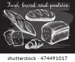 hand drawn set of bread and... | Shutterstock .eps vector #474491017