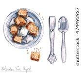 Watercolor Food Clipart   Sugar