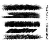 vector black ink brush strokes. ... | Shutterstock .eps vector #474495967