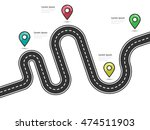 road way location infographic... | Shutterstock .eps vector #474511903