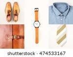 mens fashionan set   shoes ... | Shutterstock . vector #474533167