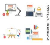 designer icon set collection... | Shutterstock .eps vector #474535327
