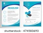 vector brochure flyer design... | Shutterstock .eps vector #474583693