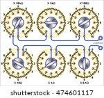 resistors decade box | Shutterstock .eps vector #474601117