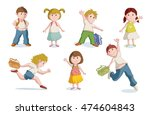 vector illustration of school... | Shutterstock .eps vector #474604843
