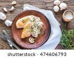 creamy garlic mushroom chicken   Shutterstock . vector #474606793