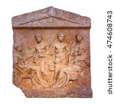 marble greek grave stele found... | Shutterstock . vector #474608743