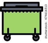 dumpster outline icon | Shutterstock .eps vector #474616513