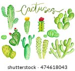 set of high quality hand... | Shutterstock . vector #474618043