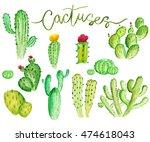 set of high quality hand... | Shutterstock . vector #474618043