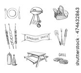 vector hand drawn icons on a... | Shutterstock .eps vector #474632863