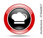 cook round glossy red and black ... | Shutterstock . vector #474660817