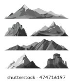mountain silhouette vector... | Shutterstock .eps vector #474716197
