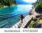 hike on garibaldi lake near... | Shutterstock . vector #474726103