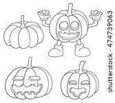 vector set of pumpkin | Shutterstock .eps vector #474739063