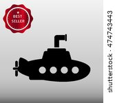 submarine vector icon... | Shutterstock .eps vector #474743443