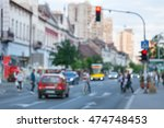 busy city street with people... | Shutterstock . vector #474748453
