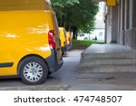 side view of yellow delivery... | Shutterstock . vector #474748507