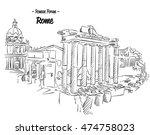 rome roman forum sketch famous... | Shutterstock .eps vector #474758023