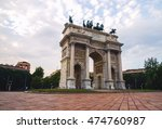 classical arch and people in a... | Shutterstock . vector #474760987