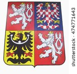 coat of arms of the czech... | Shutterstock . vector #474771643