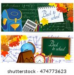 horizontal banners with school... | Shutterstock .eps vector #474773623