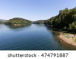 Small photo of Aggertalsperre - storage reservoir dammed by the river Agger near Gummersbach/ Germany
