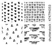 seamless hand drawn ink... | Shutterstock .eps vector #474794353