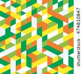 seamless pattern. isometric... | Shutterstock .eps vector #474810847