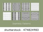 set of dotted and dashed... | Shutterstock .eps vector #474824983