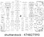 huge set of beautiful wedding... | Shutterstock .eps vector #474827593