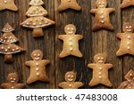 gingerbread men | Shutterstock . vector #47483008