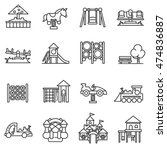 playground icons set. ... | Shutterstock .eps vector #474836887